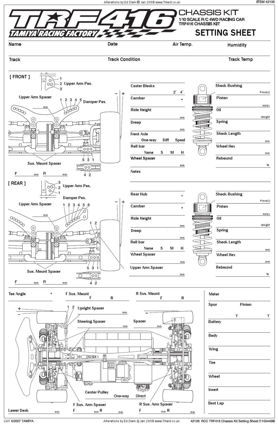 Setup Sheet Data Base PETITRC - oukas info