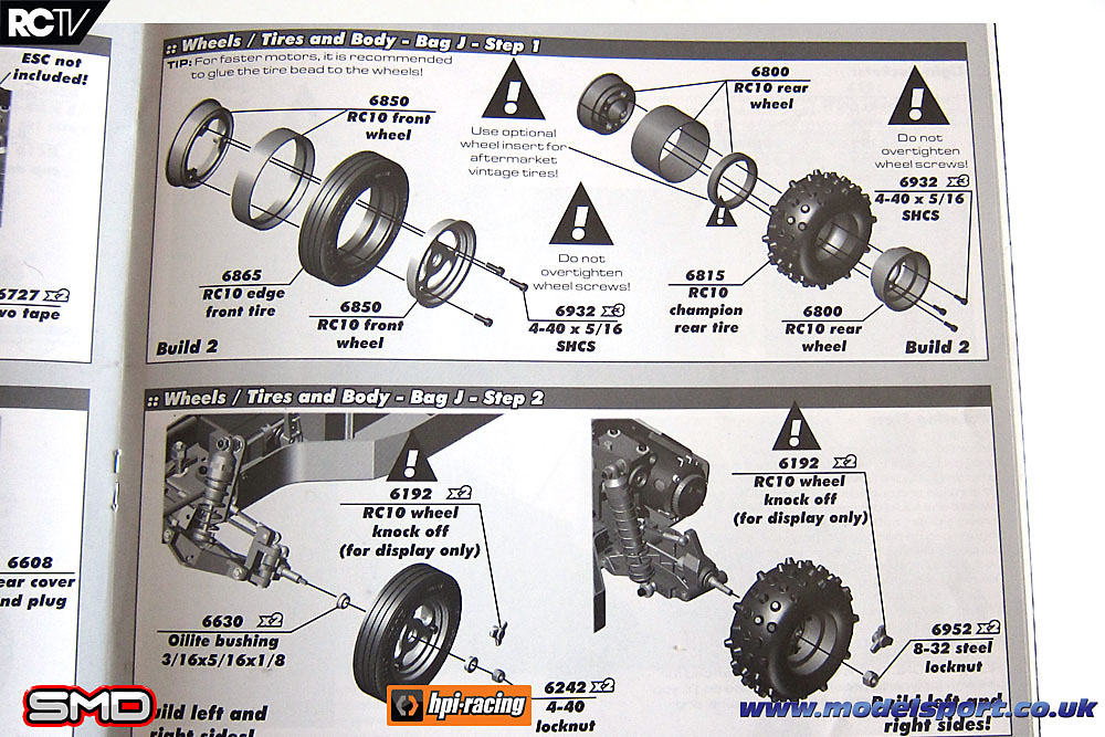 3-piece RC10 Rear Wheels