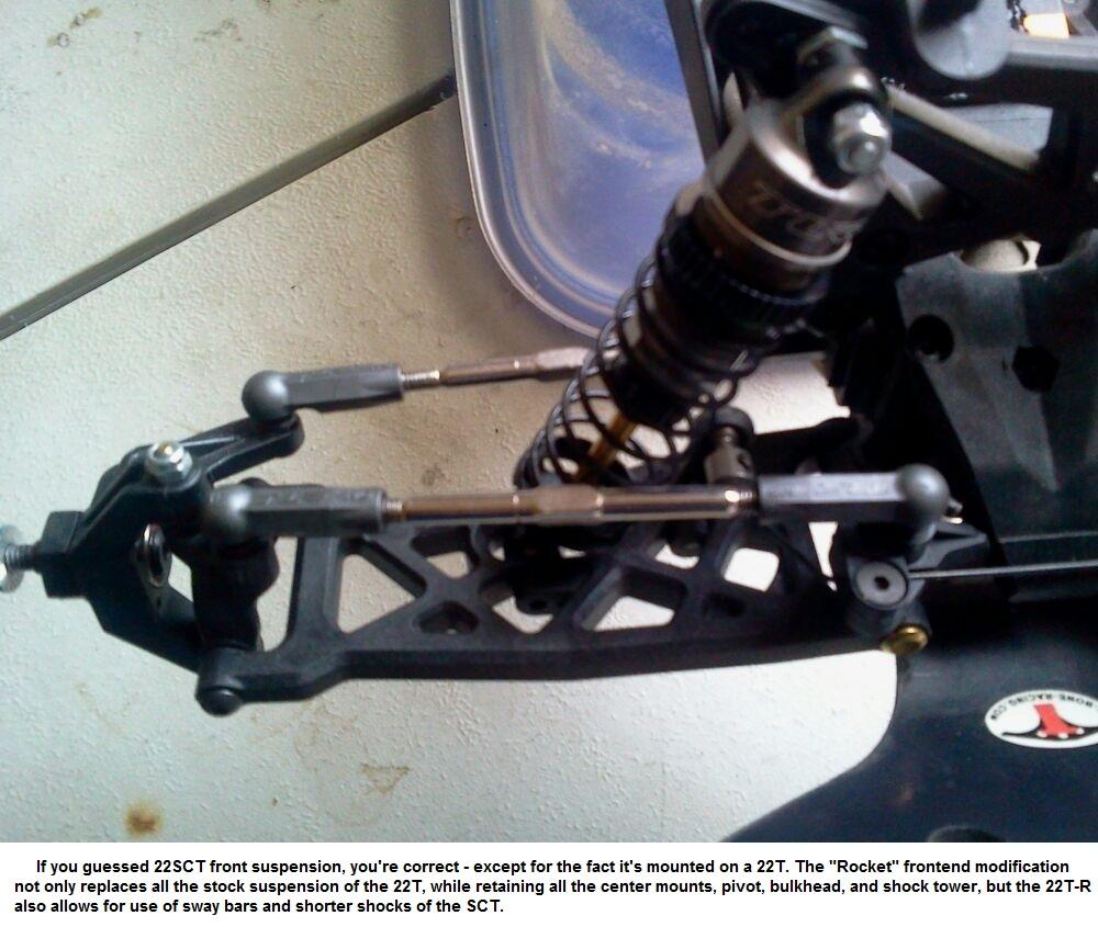 22SCT Losi Team Racing Sway Bar Kit Rear