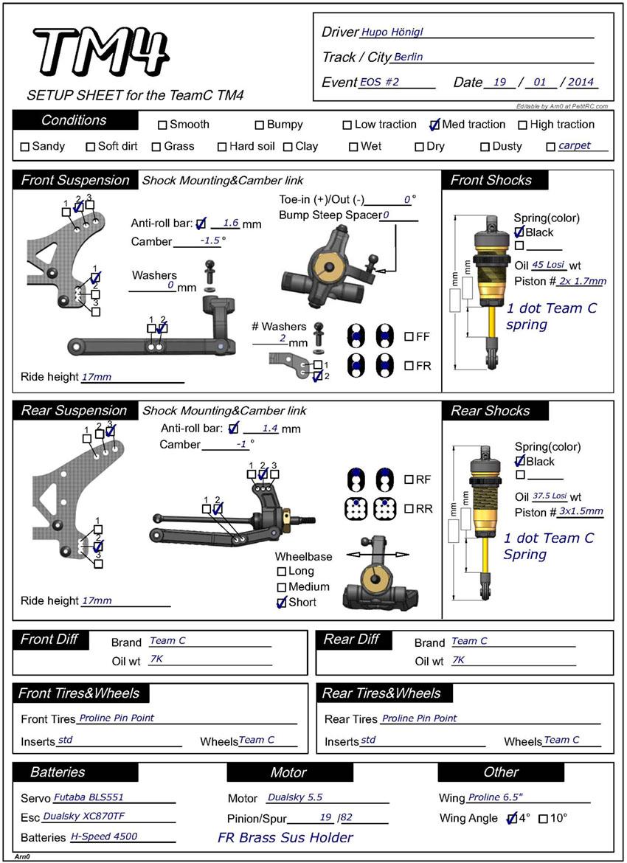 Free Printable Race Car Setup Sheets  Brands hatch setup
